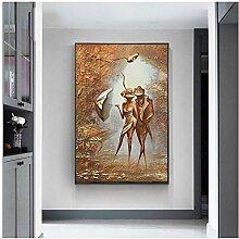 ZXYFBH Poster Bilder Abstrakte Figur Klassische