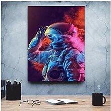 ZXYFBH Poster Bilder Astronauta Abstract Art