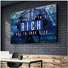 ZXYFBH Poster Bilder Englisch Anime Mann Blau Bild