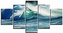 ZXYJJBCL Blaue Riesige Wellen Auf Dem Meer Frisch