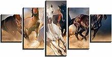 ZXYJJBCL Galoppierendes Pferd Auf Dem Land 5 Panel