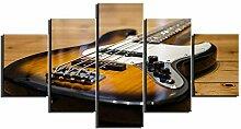 ZXYJJBCL Gitarre Auf Holzbrett Fresh Look Farbe 5
