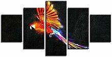 ZXYJJBCL Ölgemälde Farbige Papagei Wandkunst