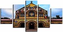 ZXYJJBCL Schöne Kirche Gebäude Wandkunst Bild