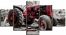 ZXYJJBCL Verfallene Rote Traktor Fresh Look 5