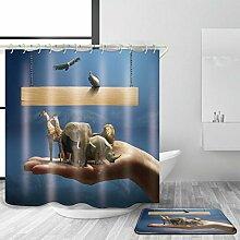 ZXZ-GO Badezimmer-Zusätze Duschvorhang mit