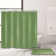 ZXZ-GO Duschvorhang und Badematte Set Polyester