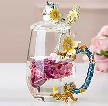 ZXZMONG Aprikosen-Blumenschale aus Glasschmuck mit