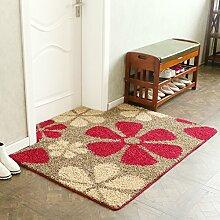 ZY Matratze tür matt pad wohnzimmer eingang rauch schiebetüren nicht-slip water absorption-D 120x160cm(47x63inch)