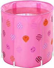ZY YZ Faltende aufblasbare Badewanne Badewanne Barrel Erwachsenen Badewanne Badewanne Fass (Farbe : Pink)