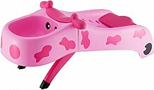 ZY YZ Kinder faltbare Liege Baby Shampoo Stuhl Kinder Shampoo Bett (Farbe : Pink)
