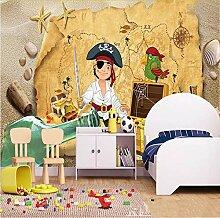 Zybnb Tapete Kinderzimmer Retro Schatzkarte