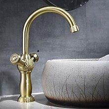 ZYC-WF Antike Bronze Waschtischarmaturen, Messing
