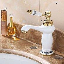ZYC-WF Waschbecken Wasserhahn, Weiße Farbe