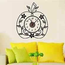 ZYCLSSRV Kreative Apple Uhr wandsticker,Wandtattoo