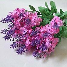 zycshang 2Elegante weiche Provence Lavender Künstliche Fake Flower Bush Blumenstrauß, Armatur für Home Shop Hochzeit Decor hot pink