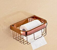 ZYDQQ Badezimmer Duschkorb voll Kupfer