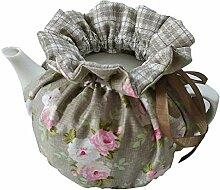 Zyen Teekanne mit Blumenmuster, staubdicht,