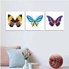 ZYHFBHFBH 3Pcs Bunte Schmetterling Wandmalerei