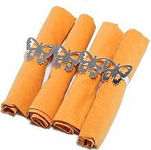 ZYJY Heimtextilien hotel - serviette plain haushalt tischdekoration modell zimmer tischdecken 46 * 46cm 1 block,orange - gelb