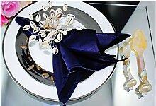 ZYJY Heimtextilien stichprobe hotel restaurant serviette mund tuch blau serviette hotel club dekoratives tuch 400 * 400mm 1 block,navy blue