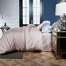 ZYJYdas hotel home hotel hostel betten textil bogen 2007 kissen vier stück leinen - bettwäsche,rosa 2 - be
