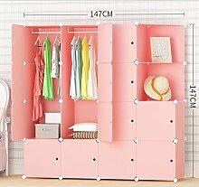 ZYJYeinfache kleidung rosa versammelten schrank kunststoff modern storage cabinet adult zimmer stoff,absatz 3