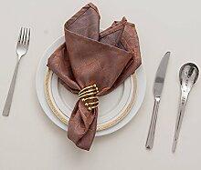 ZYJYstoff serviette hotel restaurant west - tüchern blume tuch handtuch wischen stoff - dekoration lebensmittel - matte 46 * 46cm,absatz 1