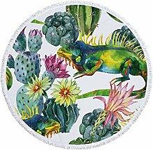 ZYLBDNB Runde Picknickmatte, Tropische Pflanze