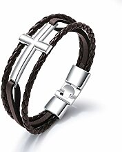 ZYLBS Männer Fortgeschritten Leder Armband