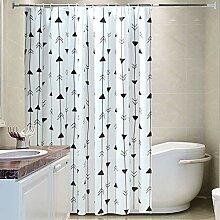 ZYLE Dreieck Duschvorhang Badezimmer wasserdicht