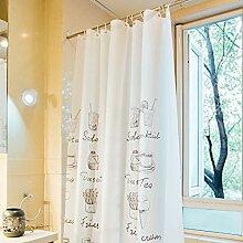ZYLE PEVA-Duschvorhang-Badezimmer-wasserdichter