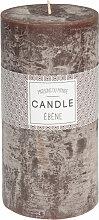 Zylindrische Kerze braun 9 x 18 cm