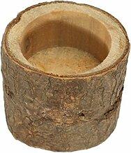 Zylindrische Kerzenständer aus Holz Kerzenhalter