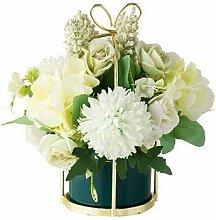 Zylindrische Vase aus Keramik, künstliche