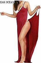 ZYLL Frauen-Strand-Vertuschung-Kleid 2 in 1