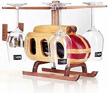 ZYM Weinregale Freistehender Hubschrauber