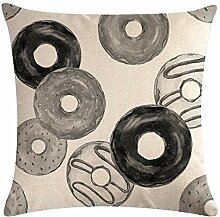 ZYPINGPAI Kissenbezug Kissenbezüge Schoko Donut