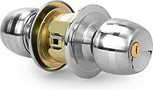 ZYPMM Sphärische Schloss, Tür Hersteller von professionellen Innentüren verriegeln Edelstahl runde Löffel Griff Ball Schlösser öffnen P