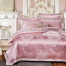 ZYT Floral Cotton 4 Stück Bettwäsche-Sets . queen