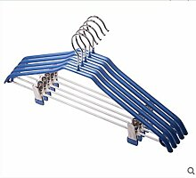 ZYT Kleiderbügel Wäscheständer Rack Hose für Erwachsene gefangen DIP Slip-Gürtel-clip . blue