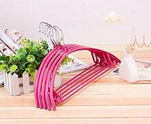 ZYT Neue Farbe Multifunktions Rutsch Kleiderbügel nach Hause Aufhänger Erwachsenen Wäscheständer ohne Markus 10 . pink