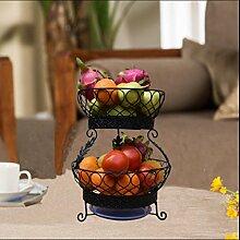 ZYT Obst Korb kreative Mode Wohnzimmer Obst Teller Obst Teller kontinentalen Becken mit Zugang Küche Geschirr Kochfeld . black