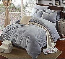 ZYT Solide Duvet Cover Sets 4 Stück Polyester solide reaktiven Print Polyester Königin 1pc Bettbezug / 2pcs Shams / 1pc flaches Blatt . queen