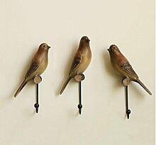 ZYT US-amerikanischer Country home-Accessoires und kreative Vogel Mantel Haken Wandbehang hinter der Tür Kleiderbügel Haken