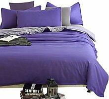 ZYT Wunderschöne lila und grau Bettwäsche-Sets 4PCS für volle Königin König Doppelgröße aus China Contian 1 Duvet Cover 1 Flatsheet 2 Kissenbezüge . king