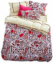 ZYT Wunderschöne rote Blumen Bettwäsche-Sets 4PCS für volle Königin König Doppelgröße aus China Contian 1 Duvet Cover 1 Flatsheet 2 Kissenbezüge . full
