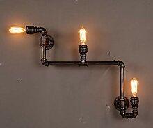 ZYTG Retro Loft Industrierohr Lampe Vintage