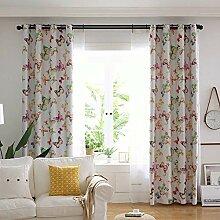 ZYY-Home curtain 2 Stück Blickdichte Gardinen