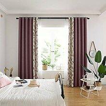 ZYY-Home curtain Blätter Spleiß